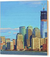The Rising Freedom Tower Wood Print
