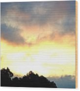 The Rising Sun  Wood Print