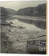 The River Fowey At Lerryn Wood Print