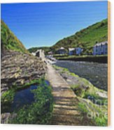 The River Valency At Boscastle Wood Print