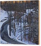 The Road Is Clear Wood Print