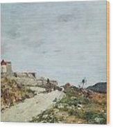 The Road To The Citadel At Villefranche Wood Print