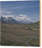 The Road To The Great One Wood Print
