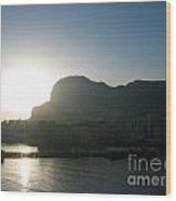 The Rock Of Gibraltar Wood Print