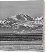 The Rockies Wood Print