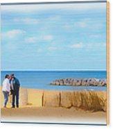 The Romantic Beach Wood Print