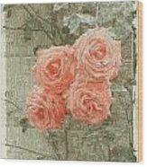 The Rose 2 Wood Print