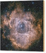 The Rosette Nebula Wood Print