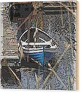 The Rowboat Wood Print