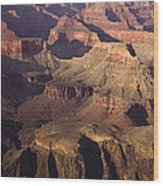The Rugged Grand Canyon Wood Print