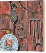 The Rusty Barn - Farm Art Wood Print