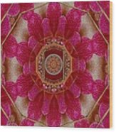 The Sacred Orchid Mandala Wood Print
