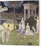 The Sacred Wood Cherished By The Arts And The Muses Wood Print