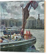 The Sailing Barge Lady Daphne Wood Print