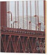 The San Francisco Golden Gate Bridge - 7d19060 Wood Print