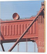 The San Francisco Golden Gate Bridge - 7d19108 Wood Print by Wingsdomain Art and Photography