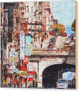The San Francisco Stockton Street Tunnel . 7d7355 Wood Print