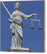 The Scales Of Justice Wood Print