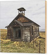 The School House Wood Print