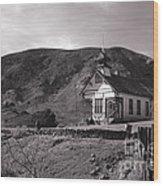 The Schoolhouse In Calico Ghost Town California Wood Print by Susanne Van Hulst