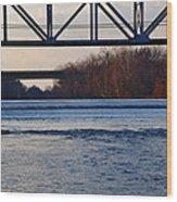 The Schuylkill River At Bridgeport Wood Print