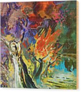 The Scream 02 Wood Print