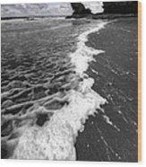The Sea And The Foam Wood Print