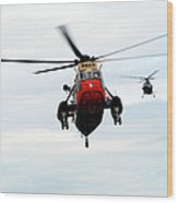 The Sea King Helicopter And The Agusta Wood Print
