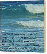 The Sea Poster Wood Print