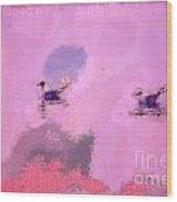 The Seagulls Wood Print by Odon Czintos