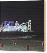 The Seaside At Night Wood Print