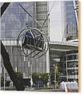 The Seat Of The G-max Reverse Bungee At The Clarke Quay In Singapore Wood Print