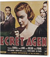 The Secret Agent, John Gielgud, Peter Wood Print by Everett