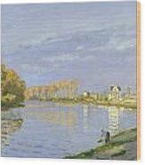 The Seine At Bougival Wood Print