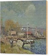 The Seine At Port-marly Wood Print by Alfred Sisley