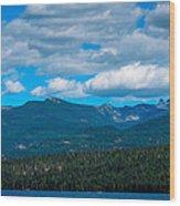 The Selkirk Mountains Of Priest Lake Wood Print