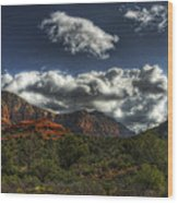 The Serenity Of Sedona  Wood Print