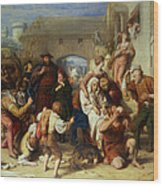 The Seven Ages Of Man Wood Print by William Mulready