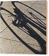 The Shadow That Follows Wood Print