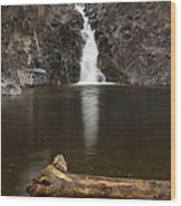 The Shallows Waterfall 2 Wood Print