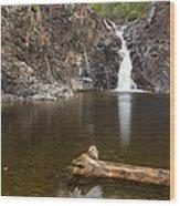 The Shallows Waterfall 3 Wood Print