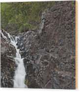 The Shallows Waterfall 4 Wood Print