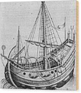 The Ship, C1470 Wood Print
