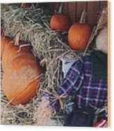 The Shy Pumpkin-man Wood Print