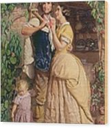 The Sinews Of Old England Wood Print by George Elgar Hicks