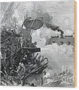 The Sinking Of The Cumberland, 1862 Wood Print