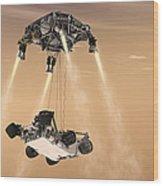 The Sky Crane Maneuver Wood Print