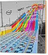 The Slide Wood Print