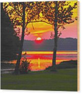 The Smiling Face Sunset Wood Print