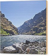 The Snake River In Hells Canyon Wood Print